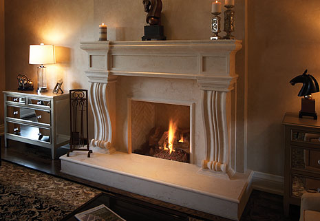 pre-cast stone mantels a great look for your fireplace
