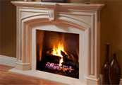 Fireplace stone mantels fireplace surrounds in cast stone by Dracme